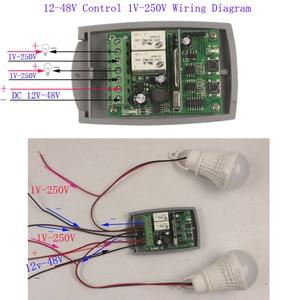 Image 2 - 12 V 48 V 24V 2 Canali Del Cancello Del Garage Porta Interruttore di Controllo Remoto Ricevitore Codice Fisso e Codice di Rotolamento codice Ricevitore Interruttore 433 MHz/315 MHz