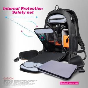 Image 3 - Camera Backpack Waterproof Anti theft Nylon Photo SLR Case Bag Backpack Camera Bag with TSA Lock Rain Cover for Canon Nikon Sony