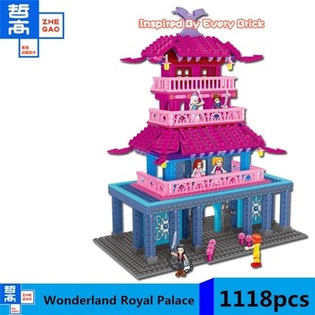 Fairyland Palace Princess Girl Building Blocks 1118pcs Bricks Toys For Children Compatible friends figures knight warrior demons