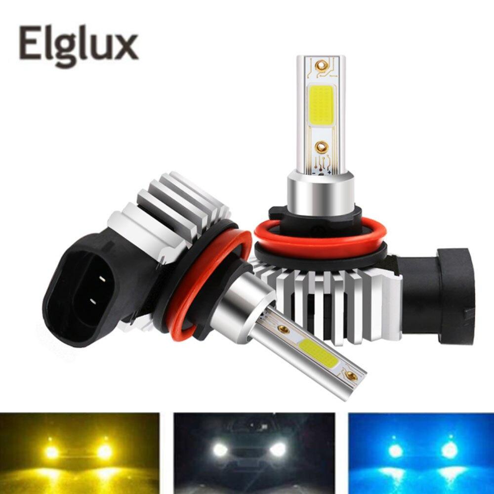 Elglux 12000LM H11 H1 H4 H7 светодиодный турбо мини лампы для автомобильных фар 80 Вт 6000K 4300K 8000K 9005 9006 H8 Автомобильные противотуманные фары 12 В
