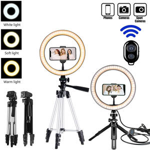 Ring-Lamp Tripod-Stand Light-Profissional Photography-Lighting Makeup-Photo-Camera Phone