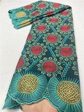 Pgc Африканский хлопок кружево ткань швейцарская вуаль кружевная