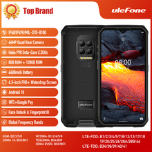 Ulefone Armor 9E Helio P90 Octa-core 8GB+128GB Android 10 mobile Phone IP68 IP69K 64MP Camera NFC Smartphone 6600mAh 64MP Camera