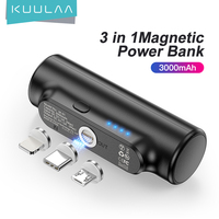 KUULAA Magnetic Power Bank 3000mAh Mini magnete caricabatterie PowerBank per batteria esterna magnetica portatile portatile di emergenza Xiaomi