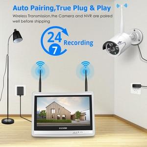 Image 3 - Hiseeu 3MP 8CH Wireless NVR Kits 12 LCD display 1536P HD outdoor security IP Camera video surveillance wifi cctv camera system