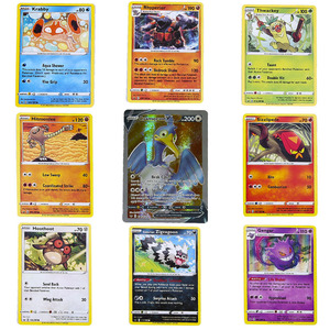 9PCS/Pack Pokemon Cards Sword Shield Sun Moon TEAM UP MEGA GX EX English Trading Game Card Battle Collection Booster Kids Toys