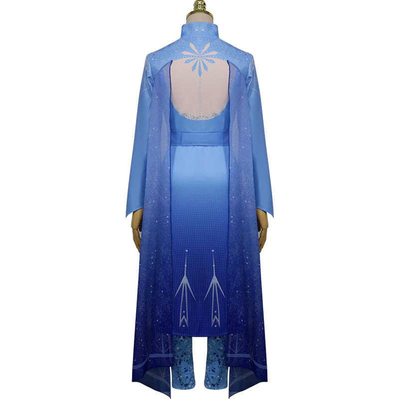 Novo filme congelado 2 anna festival cosplay traje completo feminino vestido de luxo traje de halloween cosplay feminino