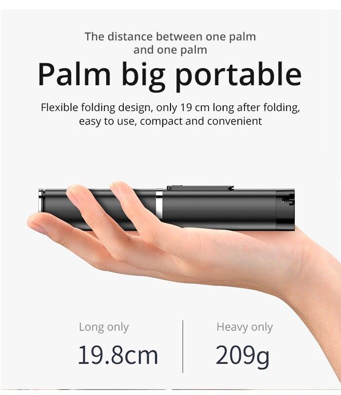 Portátil integrado tripé selfie vara escondido suporte