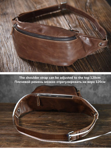 Image 5 - PNDME high quality cowhide simple vintage chest bag genuine leather mens shoulder messenger belt bag casual sports waist packs