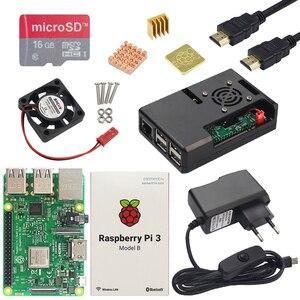 Image 3 - Raspberry Pi 3 Model B lub Raspberry Pi 3 Model B Plus deska + etui z ABS + zasilacz Mini PC Pi 3B/3B + z WiFi i Bluetooth