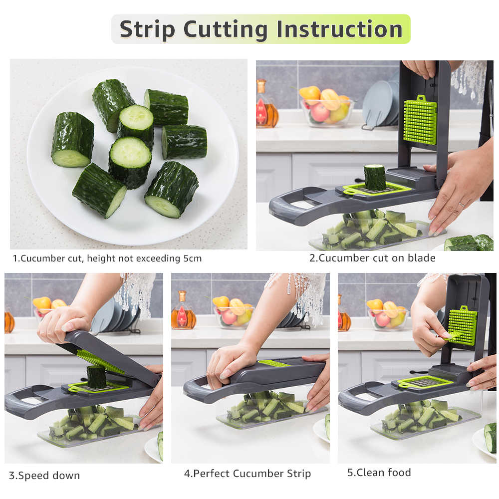 野菜スライサーキッチンアクセサリーマンドリンスライサー果物カッタージャガイモの皮むき器ニンジンチーズおろし器野菜スライサーチョッパー