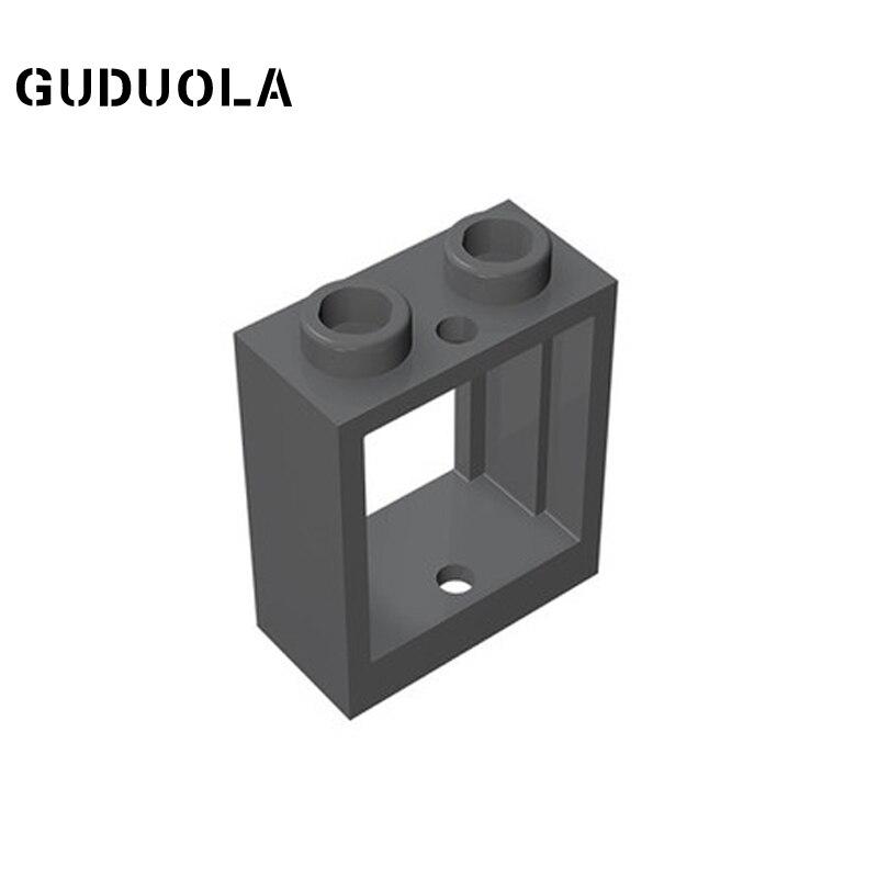Строительный блок Guduola Window 1x2x2 (60592) рамы/окна/стены и двери MOC DIY Развивающие игрушки детали кирпич 40 шт./лот