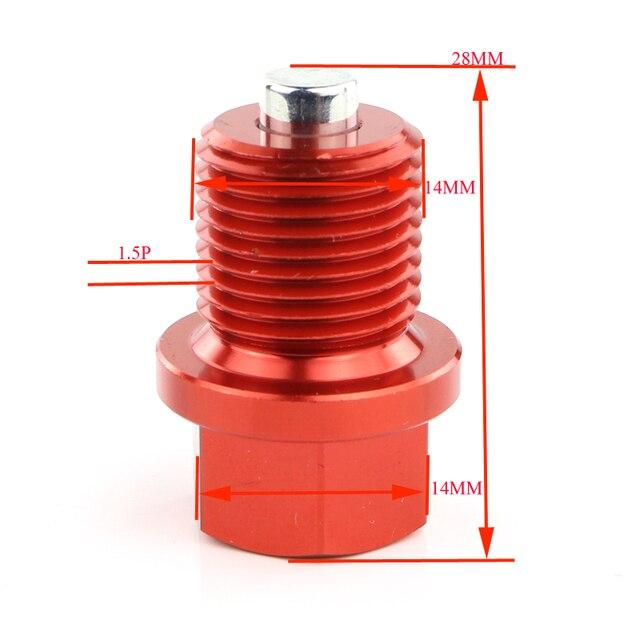 Aluminium kęsów M14x1.5 magnetyczny korek spustowy oleju śruby do Honda NTV 650 cień 750 TRANSALP Goldwing GL1100 1000 1200 1500 1800