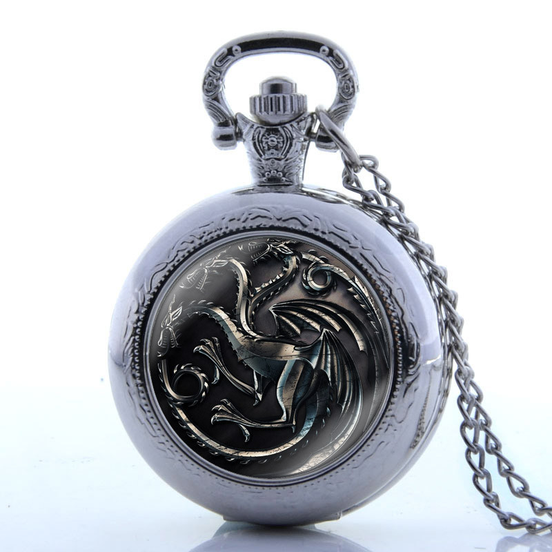 Vintage Bronze Couple Running Horses Quartz Pocket Watch Women Men Carved Fob Pendants Zodiac Chinese Style Gift