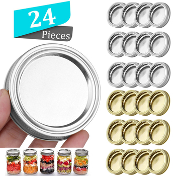 70/86mm Mason Jar Lids Leak Proof Sealing Tinplate Food Keeping Fresh Mason Canning Jar Caps with Wide Mouth Kitchen Supplies image