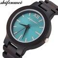 Shifenmei деревянные часы мужские 2019 люксовый бренд деревянный ремешок бамбуковые деревянные часы мужские кварцевые наручные часы Часы Подарк...