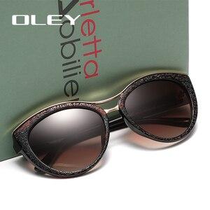 Женские солнцезащитные очки кошачий глаз OLEY, брендовые дизайнерские поляризационные очки, очки для вождения, 2019