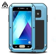 Sang Trọng Giáp Kim Loại Ốp Lưng Dành Cho Samsung Galaxy Samsung Galaxy A5 A3 2017 Điện Thoại Chống Sốc 360 Bảo Vệ Toàn Thân Dành Cho Samsung A5 2017 Ốp Lưng