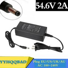 Ładowarka 54 6V 2A do ładowarki litowo-jonowej 48V gniazdo DC złącze do akumulatora litowo-jonowego 48V 13S tanie tanio YYHQQBAD CN (pochodzenie) Elektryczne Standardowa bateria Video Game Player