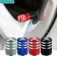 DSYCAR 4 Teile/satz Universal Schädel Alu-legierung Reifen Ventil Kappen für Auto Lkw Motorrad Fahrrad Ventil Stem Abdeckung Reifen zubehör Neue