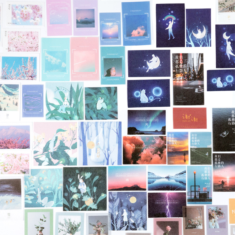 40pcs/bag Ins Style Washi Paper Sticker The Sea Of Life Series Stationery Stickers Decorations Scrapbooking Diary Albums