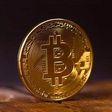 Битовая Золотая монета btcbitcoin коллекция брелок для ключей Настройка Мужская подвеска со шнурком творческие подарки