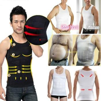 2020 Men Slimming Body Shaper Tummy Shapewear Fat Burning Vest Modeling Underwear Corset Waist Trainer Muscle Girdle Shirt