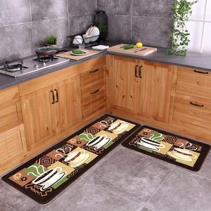 Non-Slip Kitchen Mat Rubber Backing Doormat Runner Rug Set Home Entrance Doormat Bathroom Carpet Living Room Decoration