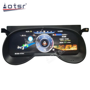 Автомобильный ЖК-Кластерный инструмент 12,3 дюйма, мультимедийная приборная панель для Toyota RAV4 RAV 4 2019-2020, gps-навигация