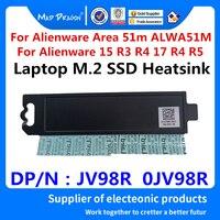 Novo portátil original novo m.2 pci e ssd suporte adaptador para dell alienware área 51m alwa51m m.2 ssd dissipador de calor jv98r 0jv98r null     -