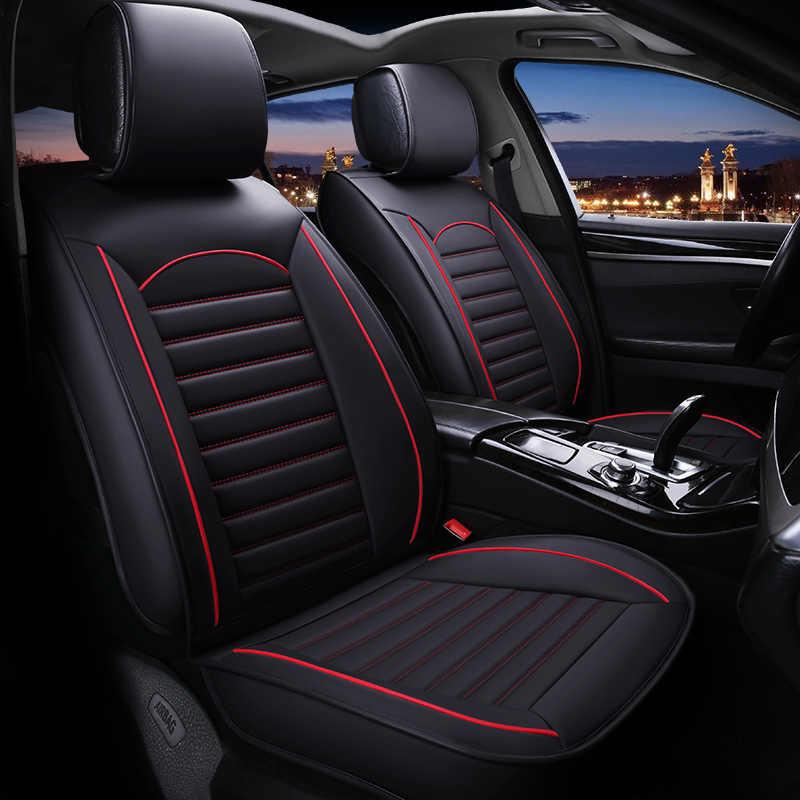 ユニバーサル革カーシート hyundai getz 用起亜リオ 3 トヨタカローラ lada グランタプジョー 307 sw フォードフォーカスアクセサリー
