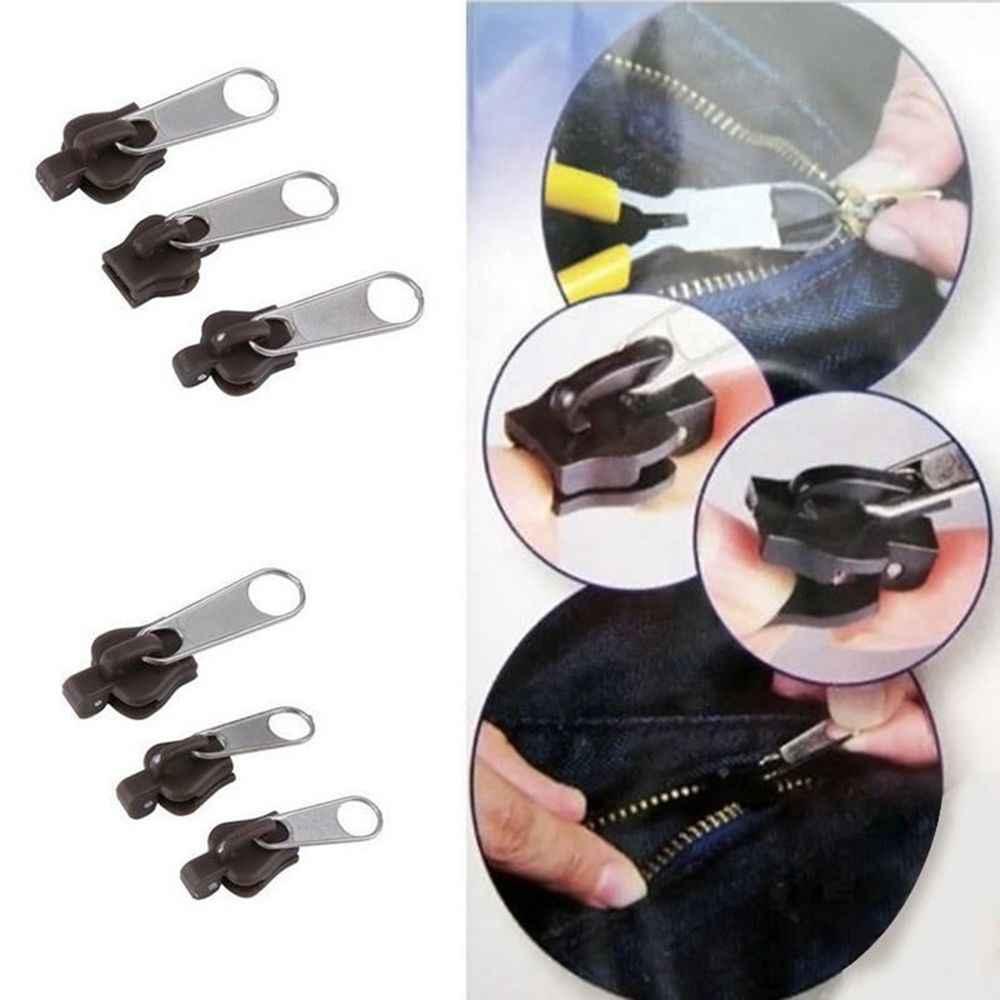 6 قطعة إصلاح سستة حجم العالمي البريدي استبدال المثبت طقم تصليح استبدال البريدي المنزلق جديد تصميم سحابات للملابس الخياطة