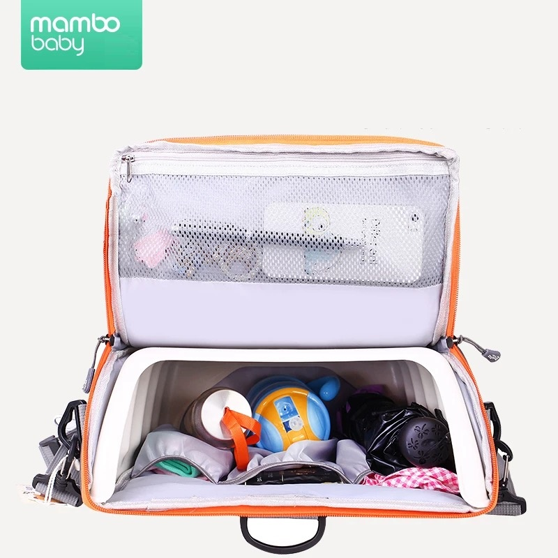 2 IN 1 Tragbarer Baby Booster Sitze Windeltag für Mama Baby Stuhl - Babymöbel - Foto 4