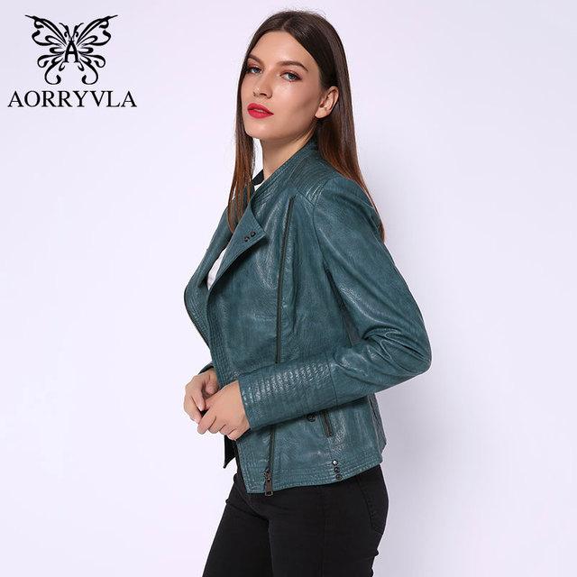 New Fashion Leather Jacket For Women Spring 2020 Black Faux Leather Jacket Slim Women's Moto Biker Zipper Jacket New Collection