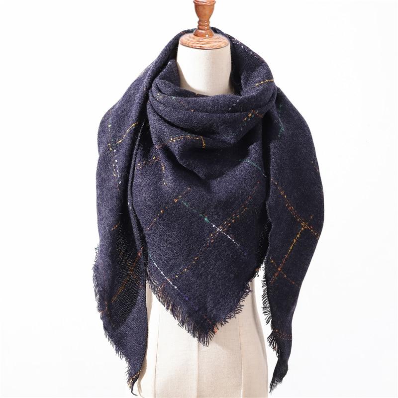 2020 NEW Winter Women Scarf Fashion Plaid Cashmere Neck Scarves Shawls Lady Foulard Femme Pashmina Bandana Triangle Bandage