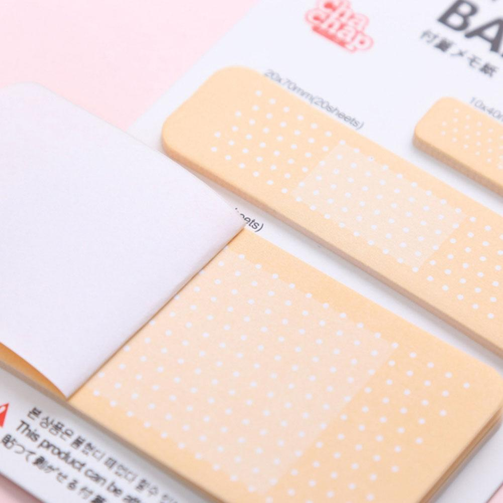 60cps/set Note Paper Band-aid Memo Pad Sticky Note Pads Paper Sticker Kawaii Korean Simple Stationery Supplies Note Office A6M1