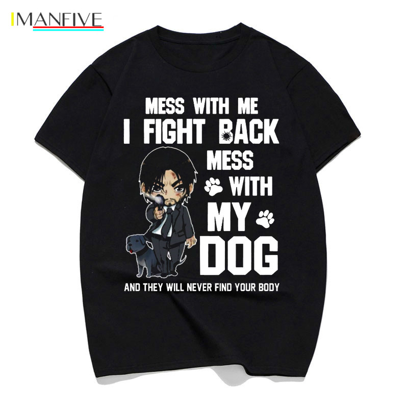john wick 3 t shirt top tshirt Movie men 2019 Be Kind To Animal Or I 39 ll Kill You t shirt hip hop tee shirt streetwear male in T Shirts from Men 39 s Clothing