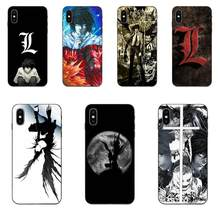Untuk Apple Iphone 4 4S 5 5S SE 6 6S 7 7 Plus X XS Max XR lembut Mewah Death Note(China)