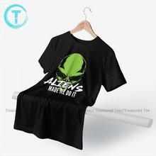 Alien Tshirt Cute Cotton Short Sleeve T Shirt Graphic Beach T-Shirt Men 4xl