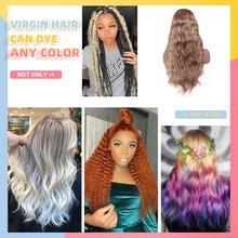 Эффектом деграде(переход от темного к Цветной Синтетические волосы на кружеве парики из натуральных волос бразильский девственные волосы объемной волны 13x4 Синтетические волосы на кружеве парик предварительно вырезанные 150% бесклеевой парик WoWEbony