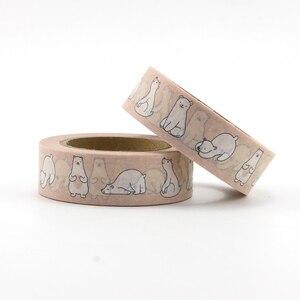 Image 2 - 22 najlepiej sprzedające się słoń, koty, lis, ptaki, króliki, jednorożec taśma Washi doskonała jakość Cute Animal Washi taśma maskująca 15mm * 10m