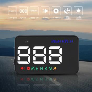 Hot Onever Universal 3.5 Inch HD Car Navigation Head-up Display Support Speed Compass Speed Alarm Auto Power on/off