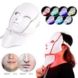 Vip link dropshipping frete grátis led máscara facial 3 estilo para escolher terapia luz cuidados com a pele 3/7 cores máscara elétrica