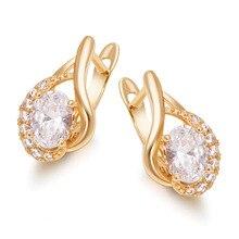 MxGxFam Золото Цвет 18 k новое кольцо с цирконами Серьги для женщин модные ювелирные изделия AAA+ без никеля