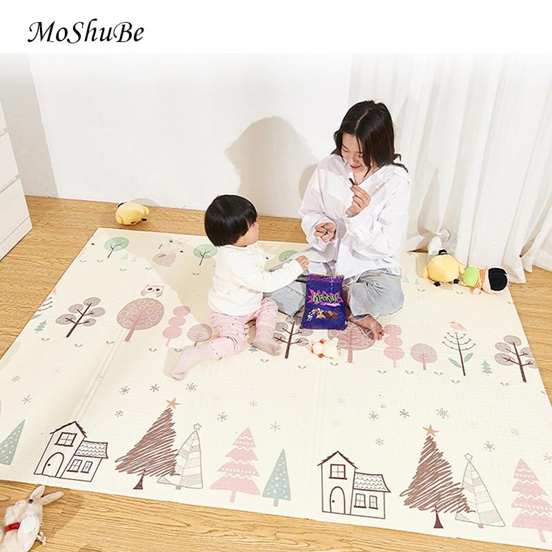 1cm tapis pour enfants pliable épais XPE tapis rampant jouets pour enfants tapis développement tapis Eva mousse bébé tapis de jeu jouet sol doux