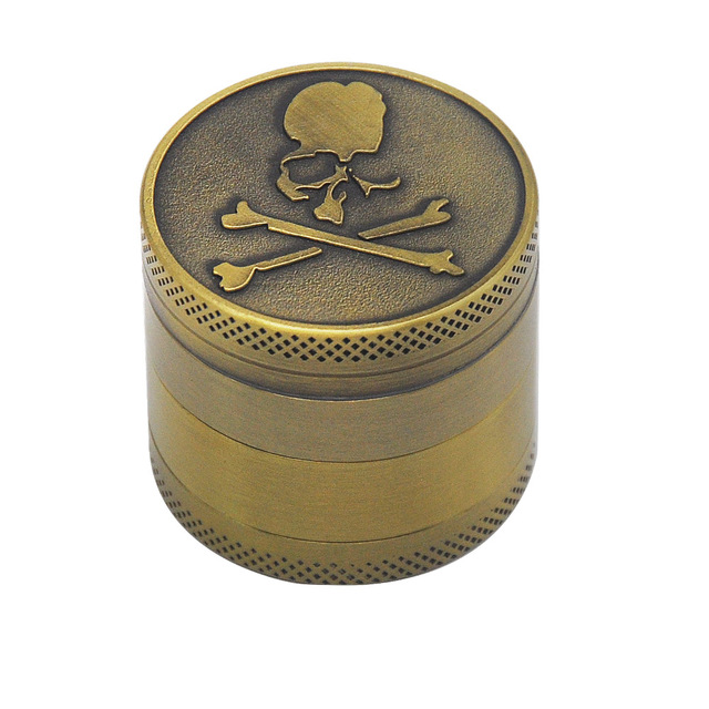 Bronze color Zinc Alloy Herb Grinder 40MM 4 layer Metal Mini Tobacco Grinders with Pollen Catcher Smoke Pipe Accessories 9