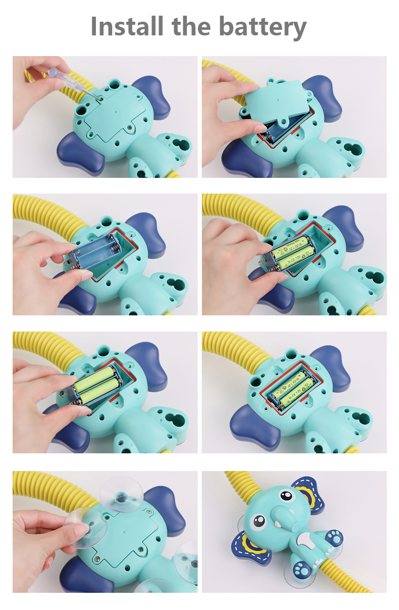 Bath Toys Baby Water Game Elephant Model Faucet Shower Electric Water Spray Toy For Kids Swimming Bathroom Baby Toys-11