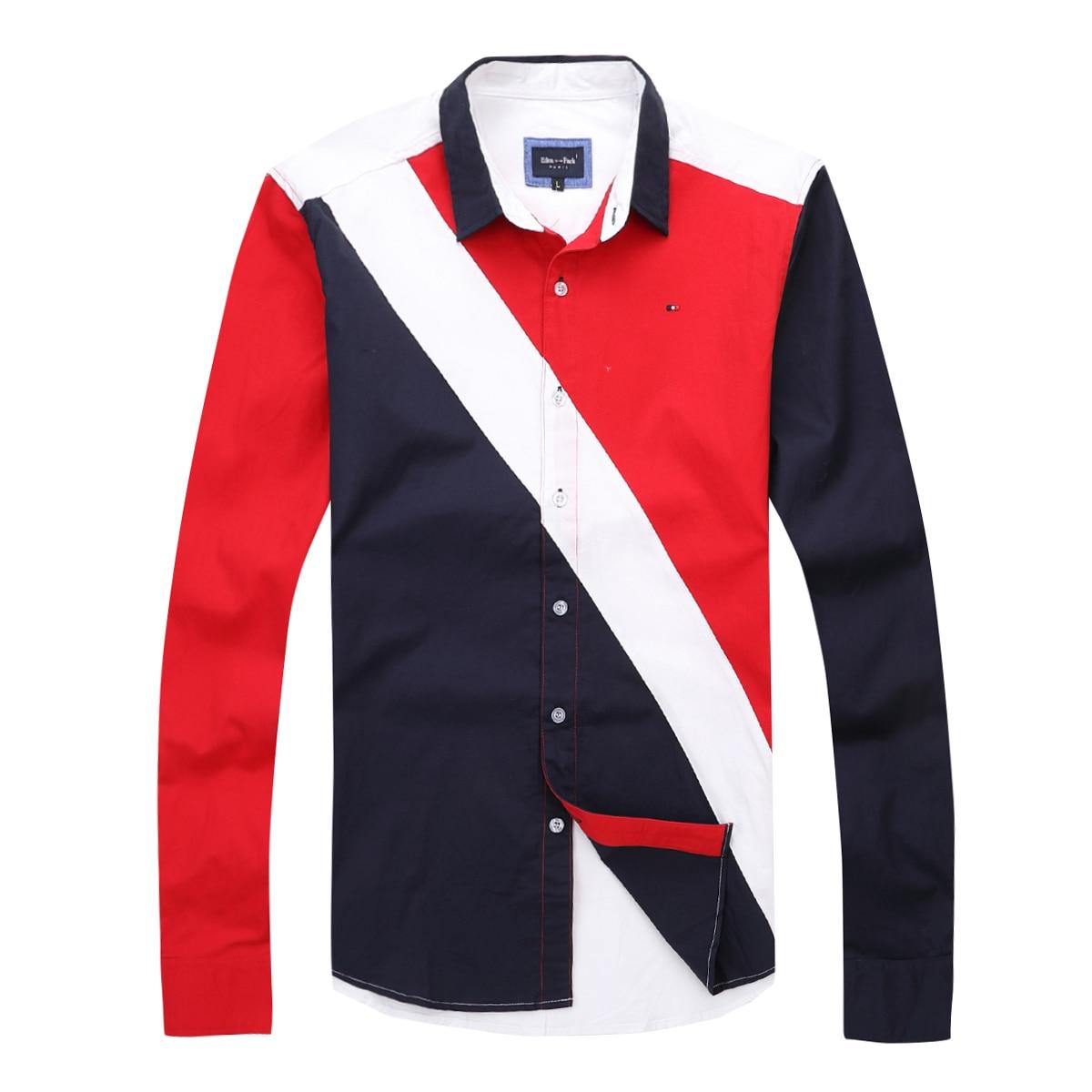 New Summer Eden-Park Men Shirt Full Sleeve Eden/Park Homme Chemise Nice Quality Cotton regular Fashion Casual big size 3XL