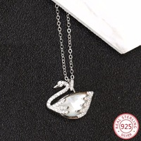 925 sterling silver female necklace pendant fashion personality swan shape jewelry hot birthday gift 2019 new hot