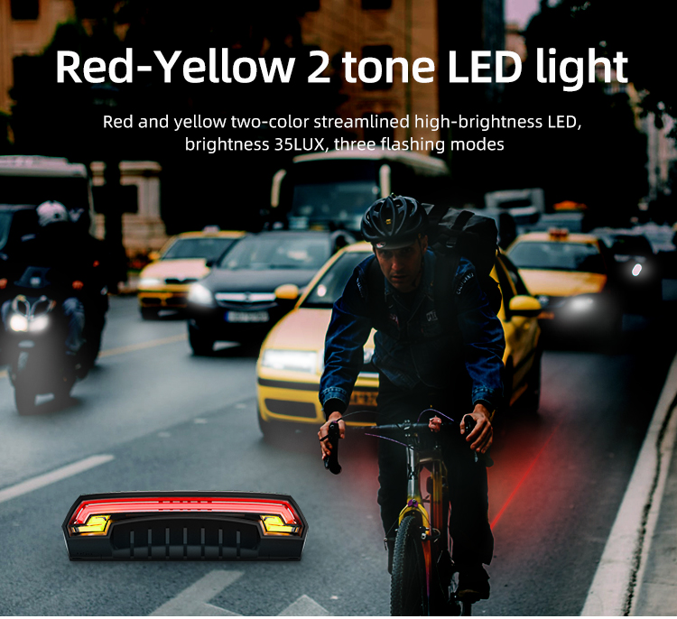 Wireless Bike light Brake Bicycle Rear Light laser taillight Smart USB Rechargeable Cycling Accessories Remote Turn led (9)